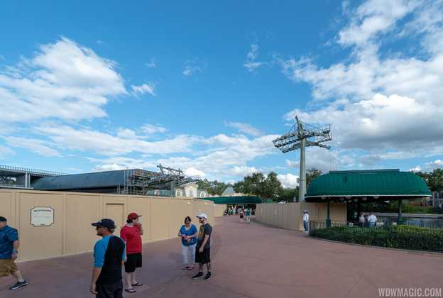 Disney Skyliner construction at Epcot International Gateway - November 2018