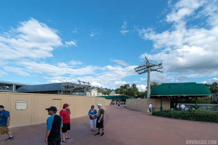 Disney Skyliner construction at Epcot International Gateway - November 2018