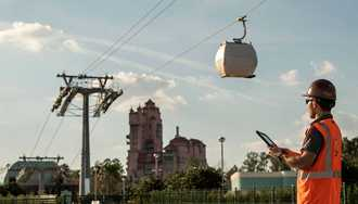 PHOTOS - Disney Skyliner begins testing guest cabins