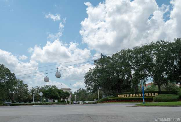 Disney Skyliner testing on the Epcot line