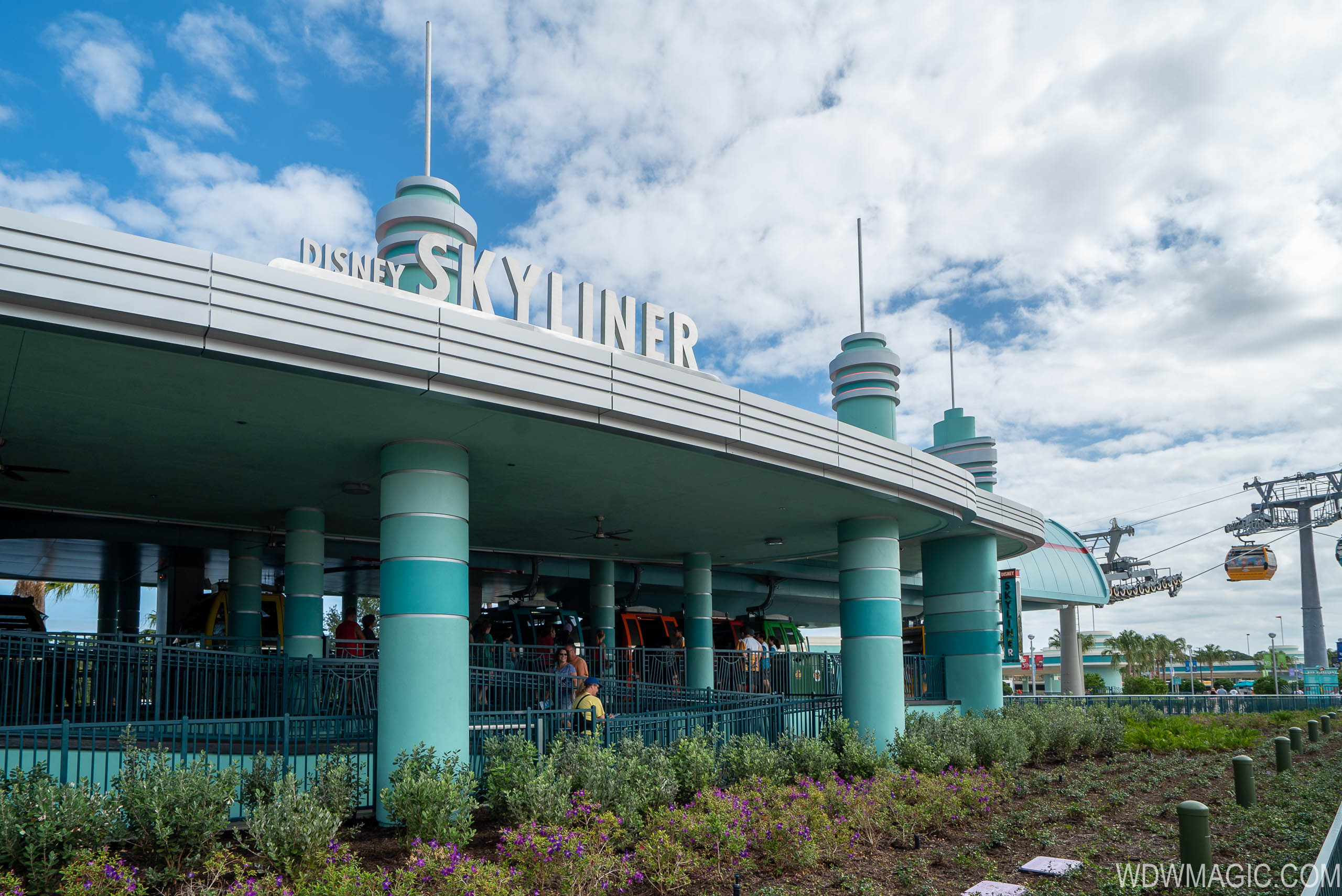 Disney Skyliner station at the Studios