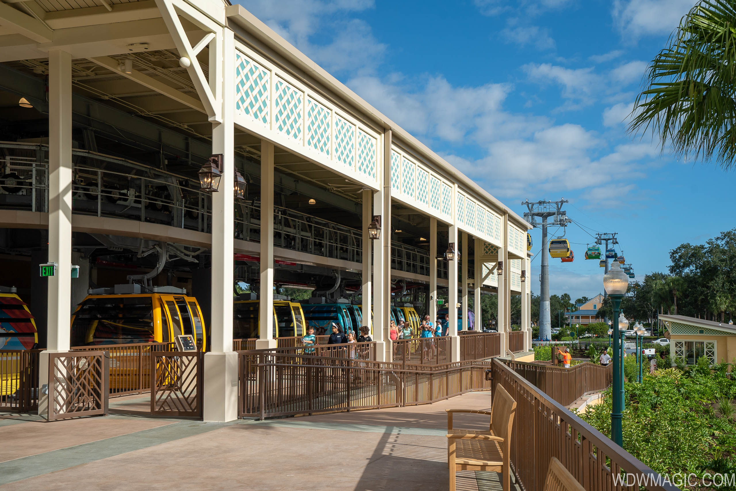 Skyliner station at Caribbean Beach Resort - Epcot line