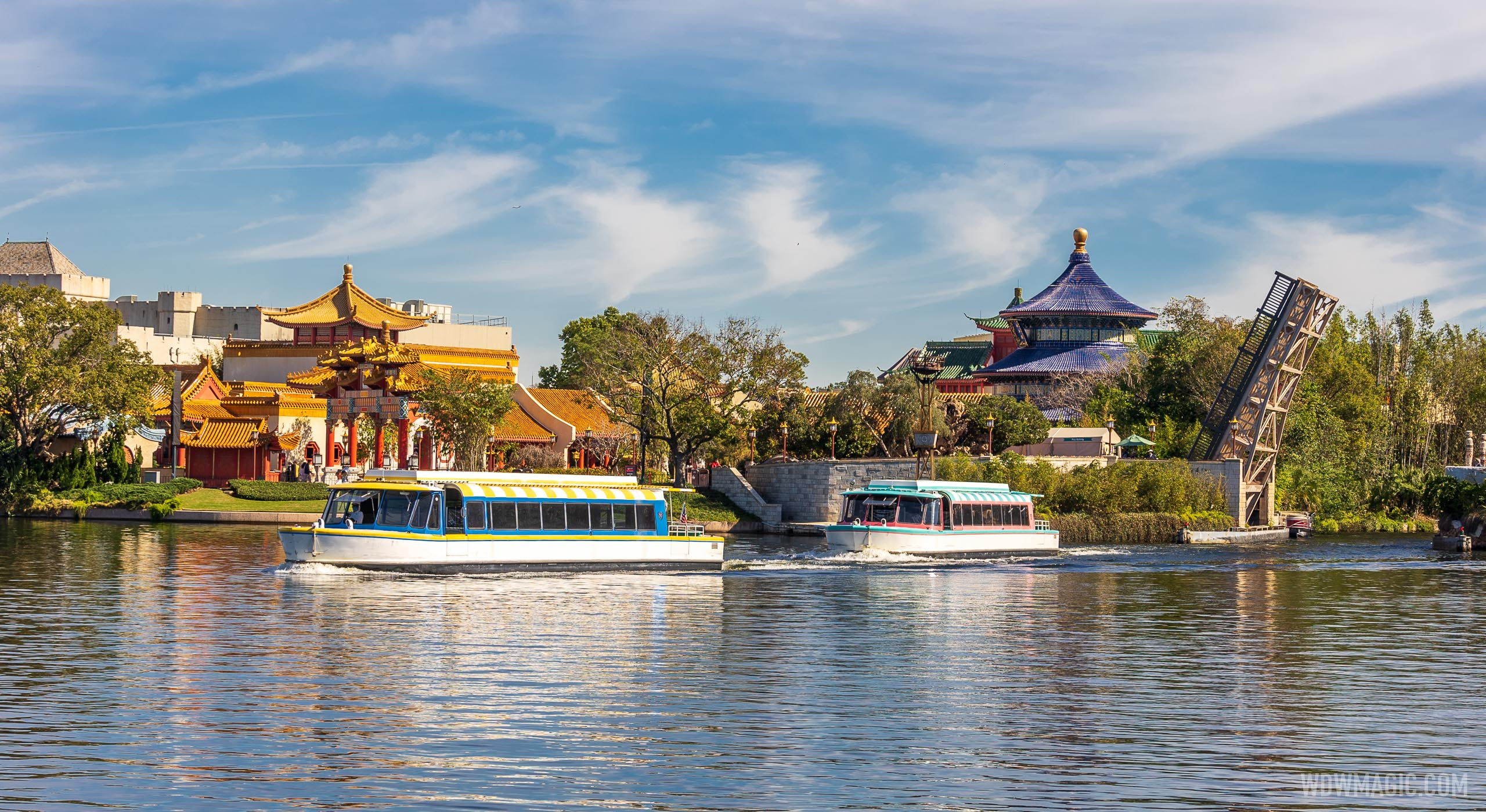 Friendship Boats on World Showcase Lagoon