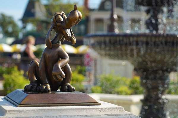 Pluto in the Magic Kingdom's Plaza Gardens