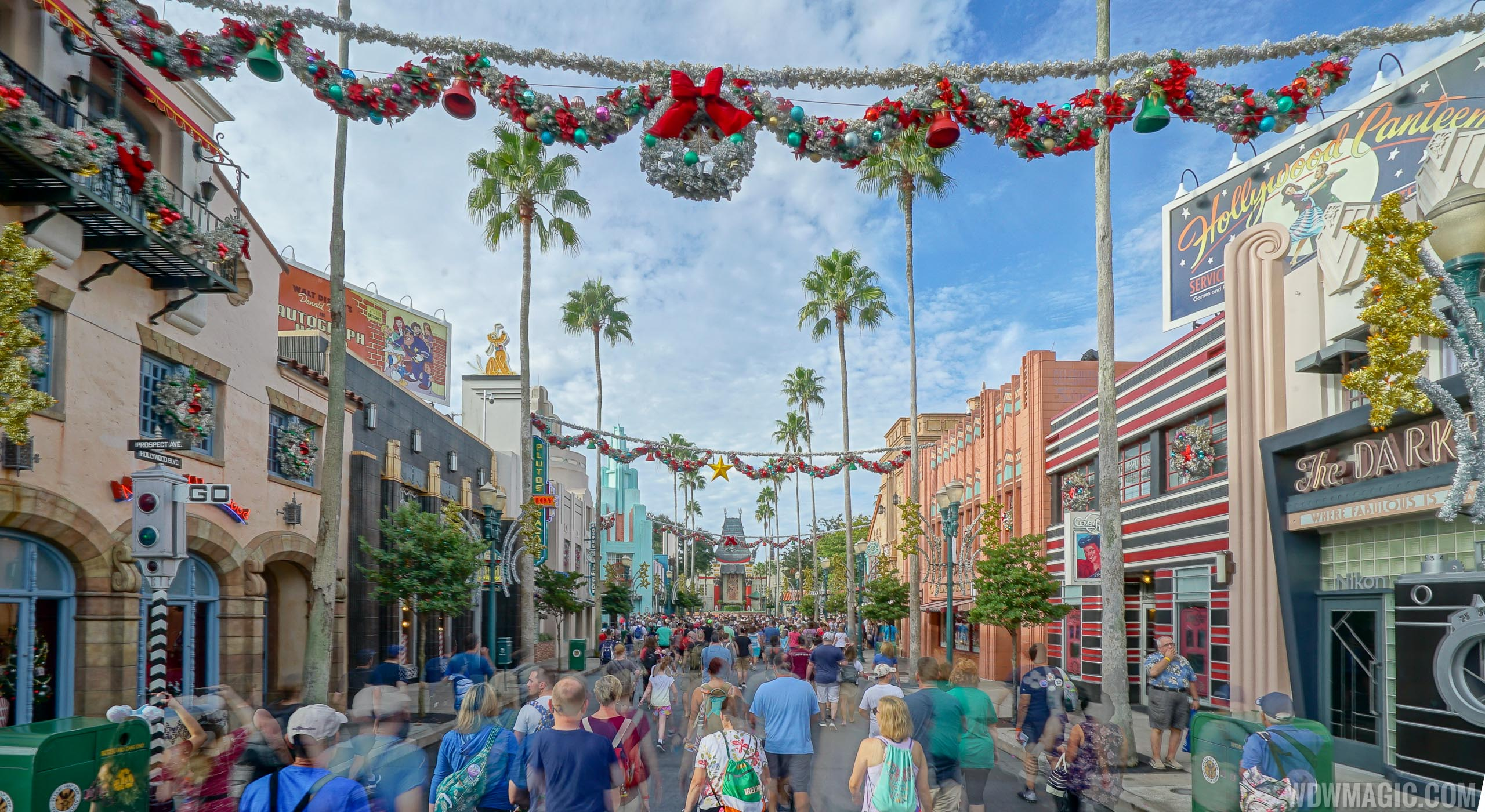 Holiday decor at Disney's Hollywood Studios